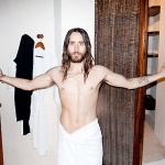 PICS: Jared Leto's Only Wearing a Towel!