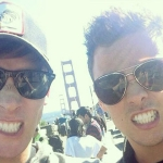 Dustin Lance Black and Tom Daley Get Their Flirt On