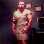 PICS: Dudes in Dresses Made of Gym Shorts Is a Thing?