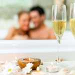 Create a romantic wedding night at-home spa experience