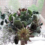 DIY succulent wedding bouquet
